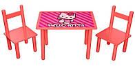 Набор мебели детский стол и 2 стульчика Китти, Финекс
