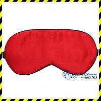 Шёлковая маска для сна (маска из шелка), красный цвет.