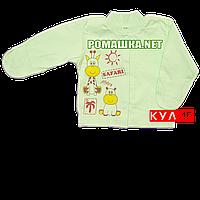 Детская кофточка р. 56 с царапками ткань КУЛИР 100% тонкий хлопок ТМ Алекс 3172 Зеленый1