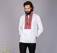 Мужская рубашка на белом батисте