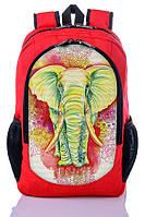 """Взрослый рюкзак """" Индийский слон """" (красный), фото 1"""