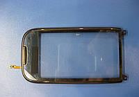 Сенсорное стекло для NOKIA C7-00 чёрный с коричневой рамкой копия ААА