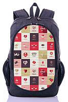 "Детский рюкзак "" LOVE"" (серый), фото 1"