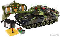 Детский боевой танк Зеленый 9993 на радиоуправлении 27 МГц. Можно собрать танковый бой!
