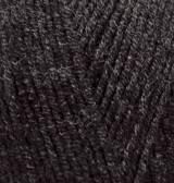 Турецкая пряжа Alize Lanagold полушерсть темно серый меланж №151