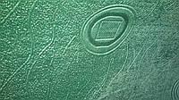 Флок зеленые круги, обивочная ткань