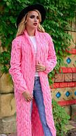 Вязаная кофта, кардиган розовый