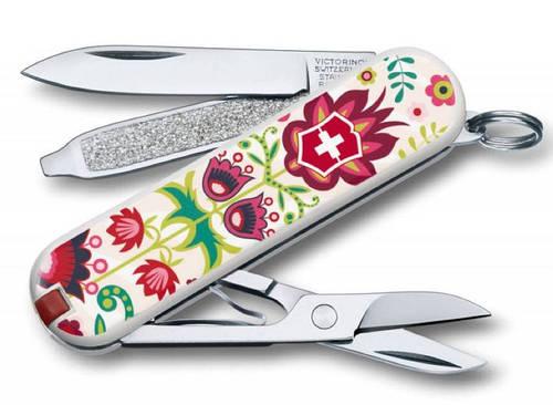 """Молодежный швейцарский нож в цветочный принт Victorinox CLASSIC """"Happy Folks"""" 06223.L1603 разноцвет"""