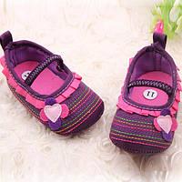 Туфли-пинетки на девочку.Первая обувь на малышей.