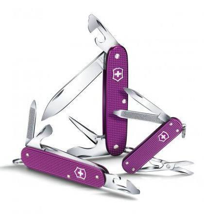 """Карманный подростковый нож VICTORINOX """"Pioneer"""" 08201.L16 фиолетовый"""