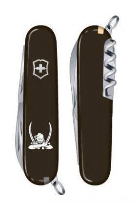 """Отличный швейцарский нож для путешествий VICTORINOX """"Spartan Ukraine"""" 13603.3R12 черный"""