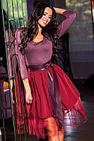 Коктейльное платье с фатином