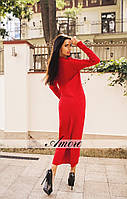 """Стильное асимметричное платье с хвостом из качественной ангоры """"Жаклин"""""""