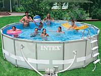 Круглый каркасный бассейн Intex Интекс Ultra Frame Pool 488х122см.
