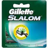 Сменные кассеты картриджи (лезвия) Gillette Slalom Plus 3 шт