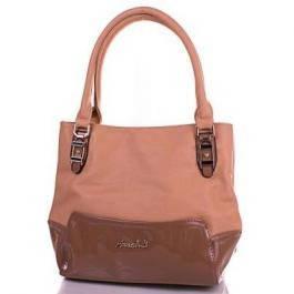 Женская бежевая сумка из качественного кожезаменителя ANNA&LI (АННА И ЛИ) TUP14075-12-1