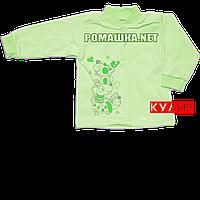 Детская кофточка р. 68 ткань КУЛИР 100% тонкий хлопок ТМ Алекс 3172 Зеленый