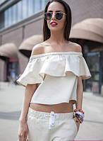 Женский льняной костюм