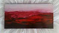«Красный закат» картина маслом