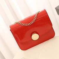 Женская сумка клатч красного цвета
