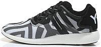 Мужские кроссовки Adidas Y-3 Yohji Yamamoto (адидас) черно-белые