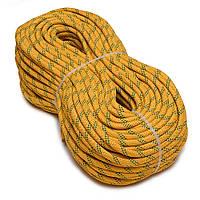 Статическая полиамидная веревка SOFT 10 мм желтая (шнур)