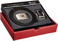 Мужской кожаный ремень Tommy Hilfiger 4 в 1 Оригинал 100% подарочный набор двухсторонний 2 пряжки качество