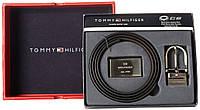 Ремень Tommy Hilfiger 4 в 1 Оригинал 100% из Америки подарочный набор двухсторонний 2 пряжки качество кожа