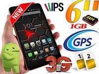 """Мега смартфон FlyFix 6 8 Ядер 6"""" 1/16GB 3G GPS"""