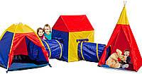 Детские игровые палатки, домики 5 in 1, с тоннелем