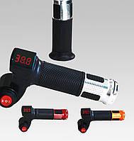 Ручки газа к электро велосипеда  с индикатором напряжения от 12v до 99v и трехпозиционным переключателем.