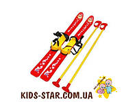 Лыжи детские Технок красные