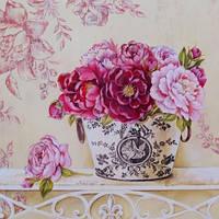 "Картина по номерам ""Английские розы "" 40х40 см. Идейка. КНО2914. Без коробки."