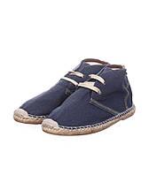 Эспадрильи - кеды котоновые на шнурках. Синие. Размер:43. Pull&Bear.