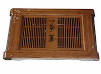 Чайный столик (чабань) , бамбук 61 х 36.5 х 7.8см