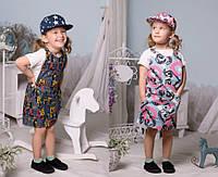 Джинсовый сарафан для девочки мод.2181 (р.98-134)