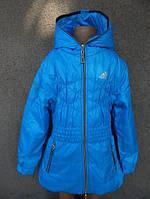 """Детская осенняя удлиненная куртка (пальто) """"Adidas"""" на синтепоне, 2-7 лет"""