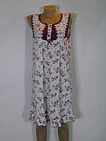 Женская ночная рубашка в цветочный принт Батала