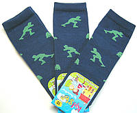 Хлопковые носки для мальчиков темно-синие роллермен