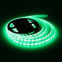 LED лента 3528 G 60RW, светодиодная лед лента для подсветки, led лента зеленая IP55 5 метров