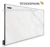 Керамический обогреватель  панель ТЕПЛОКЕРАМИК ТСМ 450 белый мрамор (Арт.№ 49713) с выключателем (Киев)