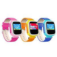 Детские часы-телефон с GPS трекером Q70 цветной экран - настройка бесплатно