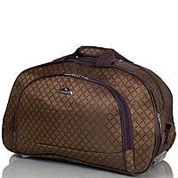 Коричневая маленькая  дорожная сумка на 2-х колёсах RUIXINGDA TU123S-brown коричневый