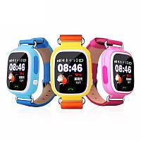 Детские часы-телефон с GPS трекером Q90 ОРИГИНАЛ Сенсорный экран + WIFI + Вибро - настройка бесплатн