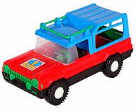Авто-сафари - машинка, Wader, красная с синей крышей (39005-4)