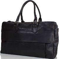 Стильная мужская дорожная сумка из искусственной кожи  ANNA&LI (АННА И ЛИ), TU13618-black черный
