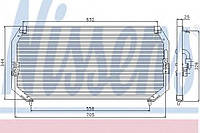 Конденсатор кондиционера Toyota (производство Nissens ), код запчасти: 94331
