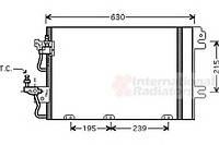Конденсор кондиционера Astra H 14 / 16 / 18 MT 04- (Van Wezel) (производство VAN WEZEL ), код запчасти: 37005366
