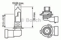 Лампа hb4 xenonblue wv (производство Bosch ), код запчасти: 1987302155