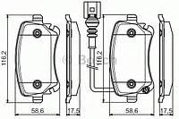 Гальмівні колодки дискові pr2 vw transporter t5 ''06 (производство Bosch ), код запчасти: 0986495094